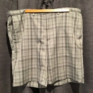 Haggar Grey Plaid Shorts